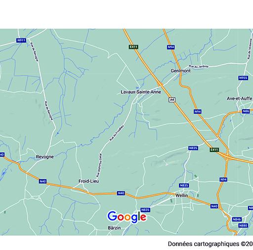 Vue globale Froidlieu-Lavaux-Ste-Anne